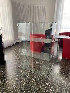 Exclusive und stabile Glasvitrine 125cm x 83cm x 42cm