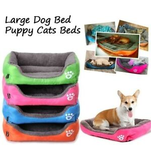 Large Pet Dog Cat Bed Puppy Soft Warm Cushion Winter Plush Mat Multicolor Kennel