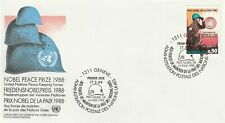 1989 United Nations Geneve Office FDC cover Nobel Peace Prize