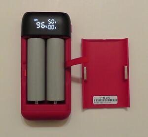 Tesla powered 21700 Powerbank - Phone CHARGER PB2S, w/ 2ea Tesla 5000 mah cells