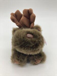 "Puffkins Moose Gus  Plush 4"" Stuffed Animal Swibco Rare Beanbag with Tags"