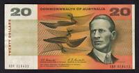 Australia R-402. (1967) Twenty Dollars - Coombs/Randall..  XBR Prefix..  aVF