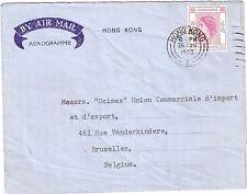 China Hong Kong aerogramme to Belgium 1960