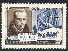 Russia 1961 Nansen/Explorer/Arctic/Dogs/Ships/Boat/Sailing/Transport 1v (n17995)