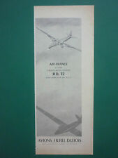 4/1955 PUB AVIONS HUREL-DUBOIS MEUDON HD.32 DC-3 AIR FRANCE ORIGINAL FRENCH AD