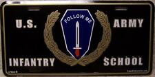 Aluminum Military License Plate Army Infantry School NEW Follow Me