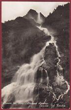 BERGAMO BRANZI 03 CASCATA - VAL BREMBANA Cartolina FOTOGRAFICA viaggiata 1942
