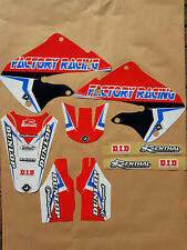 New Honda CR 125 98 99 CR 250 97 98 99 FLU PTS4 Graphics Sticker Decals Kit