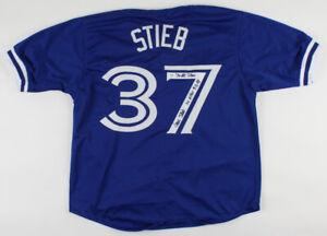 Dave Stieb Signed Blue Jays Jersey Inscbd 7xAll Star & No Hitter 9-2-90(PSA COA)