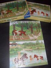 Boite de 2 puzzles chevaux