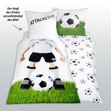 Herding Bettwäsche Fußball Kissen 80x80 cm Bettbezug 135x200 cm 100 % Baumwolle