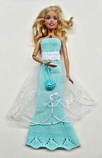 2 Ways Acrylic Dress with Belt and Purse for Barbie Doll