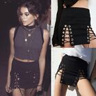 Women's High Waist Lace Up Sexy Bodycon Bandage Party Pencil Mini Club Skirts