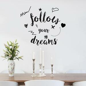 FOLLOW YOUR DREAMS WALL STICKER Decal Home Decor Art Quote Lettering SQ204