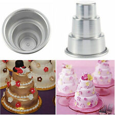 newc Mini 3-Tier Cupcake Pudding Chocolate Cake Mold Baking Pan Mould Party 2016
