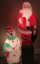**2** Vintage 1968 Empire Blow Molds Santa & Snowman NEW