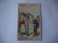 CHROMO PUBLICITAIRE CHOCOLAT GUERIN-BOUTRON N°196 GRAPHOLOGIE