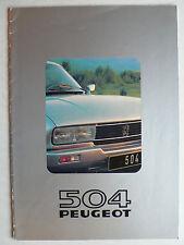 Prospekt Peugeot 504 Cabriolet TI, Coupe TI / V6 TI, 1980, 16 Seiten