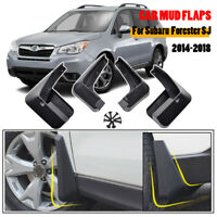4pcs Mud flaps For Subaru Forester SJ 14-18 Guards Mudguards Mudflaps Front Rear