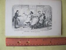 Vintage Print,JANUARY,Announcement,Cruikshank,Occupations