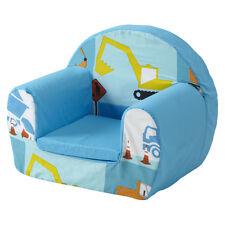 Construction Bleu Pour Enfants Mousse Confortable Chaise Petits Enfants Fauteuil