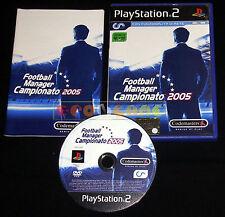 FOOTBALL MANAGER CAMPIONATO 2005 Ps2 Versione Italiana 1ª Edizione •••• COMPLETO