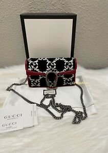 NEW Gucci Dionysus GG Tweed Super Mini Bag