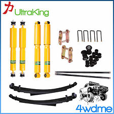 """Ford Courier PC PD PE PG PH Front & Rear Shocks + Leaf 2"""" Complete HD Lift Kit"""