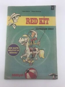 LUCKY LUKE #7 Turkish Comic Book 1990s VERY RARE Morris RED KIT