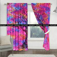 Indian tie-dye mandala cotton curtain window door hanging drapes hippie tapestry