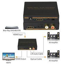 4K HDMI 2CH/5.1CH AUDIO EXTRACTOR Analog L/R RCA  Optical Converter De-Embedder
