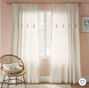 Opalhouse Tufted Diamond Light Filtering Curtain Panel