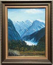 John Miller~original painting~Franz Josef Glacier, New Zealand~1981