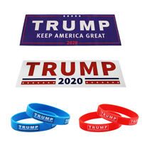 Trump President 2020 Keep America Great Sticker With Free Silicone Bracelets