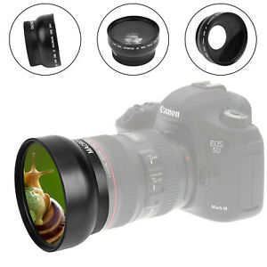 ULTRA HD 49/52/58/62/67/72mm 0.45x Wide Angle Lens w/ MACRO Lens For DSLR Camera