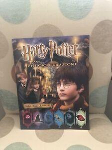 Panini Harry Potter + The Philosopher's Stone Sticker Album - Complete - VGC
