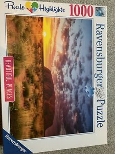 NEW! Ravensburger Ayers Rock in Australia 1000 piece scenic jigsaw puzzle