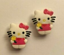 Hello Kitty PVC Shoe Charm Set of 2 (Pink Bow)