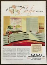 1936 Carrara Modern Structural Glass Ad Try This Recipe for a Carefree Kitchen