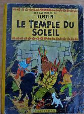 EO - 1956/57 Tintin - B21Bis -  Le Temple du Soleil - Dos Jaune & intérieur Bleu
