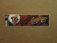 SAL Greensboro Grasshoppers Vintage 2012 Style#2 Logo Baseball Bumper Sticker
