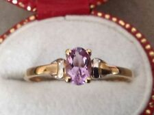 Birthday Solitaire Round Amethyst Fine Rings