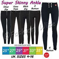 Girls Black Grey School Trousers Sizes 4-16 Miss Sexies Super Skinny Sizes 4-16