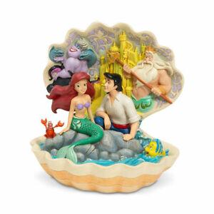 Jim Shore Disney Traditions Little Mermaid In Shell Seashell Scenario 6005956