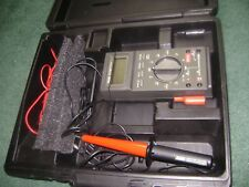 FLUKE 27/FM MULTIMETER WITH 80K-6 HIGH VOLTAGE PROBE AND CASE  NEW BATTERY