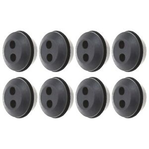 8pcs Fuel Tank Grommet Seal 2 Hole Outer Dia 24.5mm Used for Brush Cutter Blower
