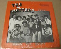 "The Metters Family ""Singin You Happy"" LP funk gospel Soul ORIGNAL Shrink PRIVATE"
