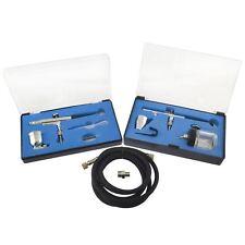 Aerógrafo De Doble Acción Spray Gun Cepillo De Aire Kit Completo 0.3mm Boquilla Hobby Pintura