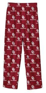 New NWT Oklahoma Sooners Lounge Pajamas Pants Youth Boys Size M Medium 10/12