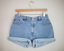 Vintage LEVI'S Light/Medium Wash High Waisted Cut Offs Cuffed Denim Shorts 29/30